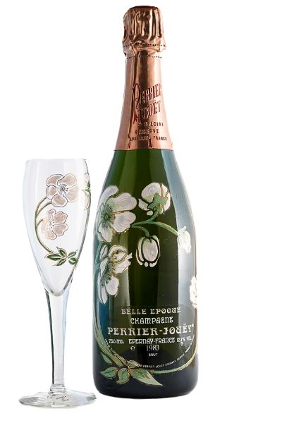 Picture of 1983 Champagne Perrier Jouet Cuvée Belle Epoque box 4 glasses